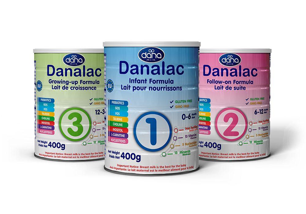 DANALAC Standard Infant Formula Baby Milk Powder With Cow Milk Three Stages